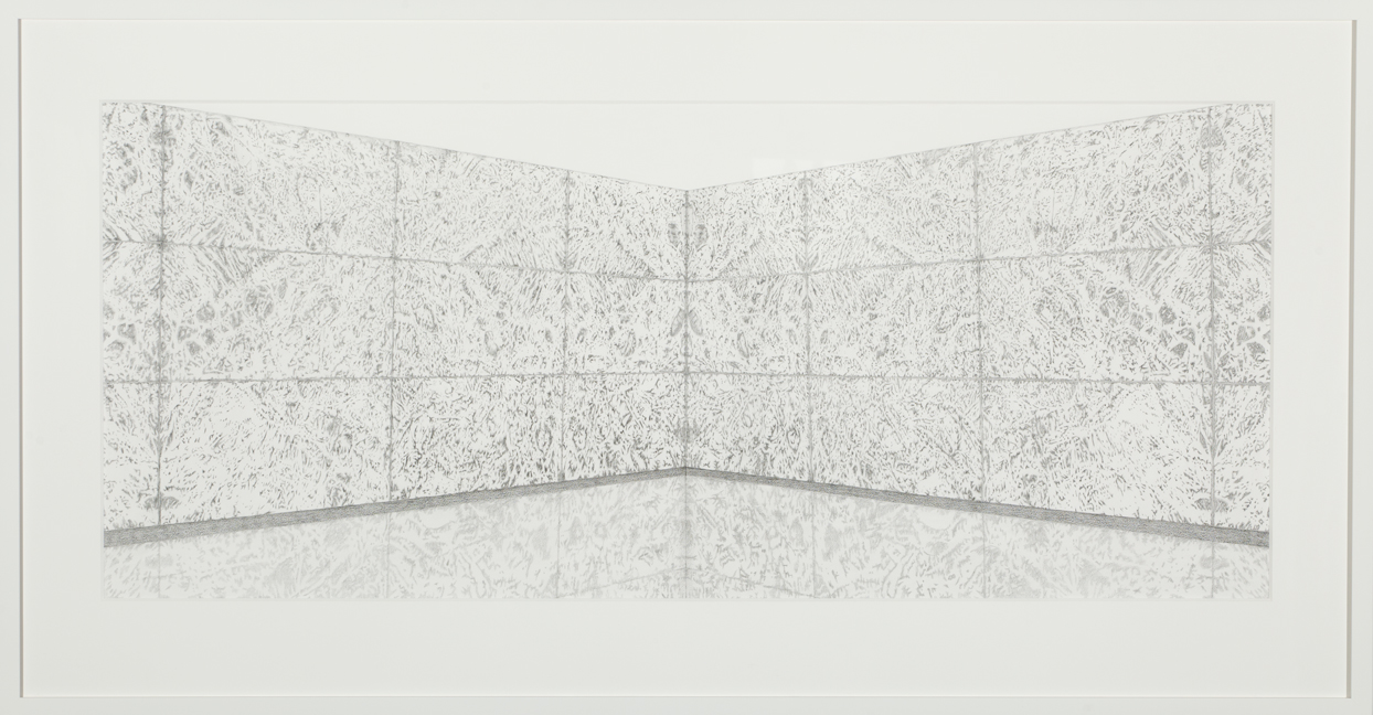 Marble Pavilion, graphite on paper 84 x 160 cm, photography Andrew Curtis