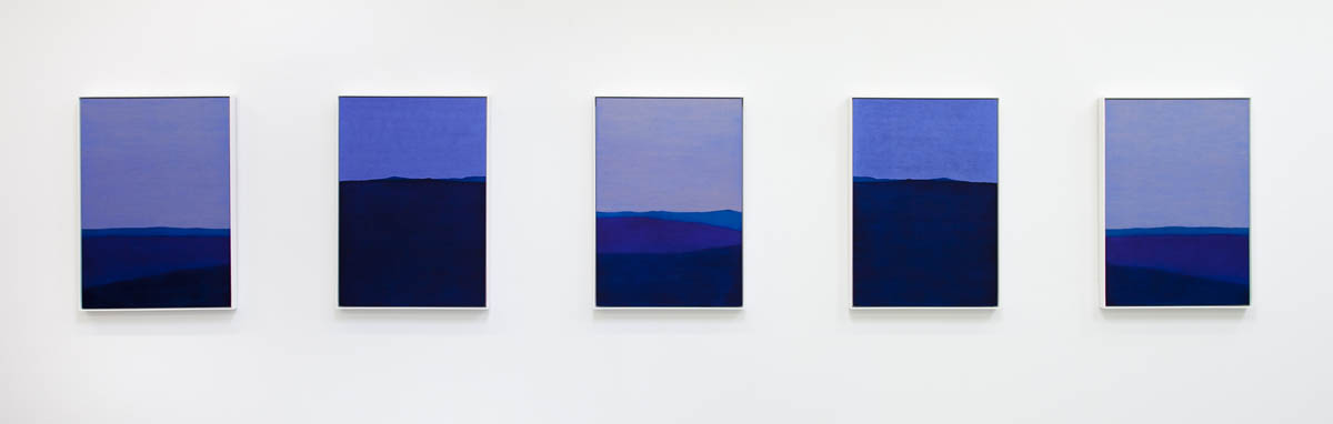 Last Light # 1, oil on linen, 5 panels, 103 x 73cm each