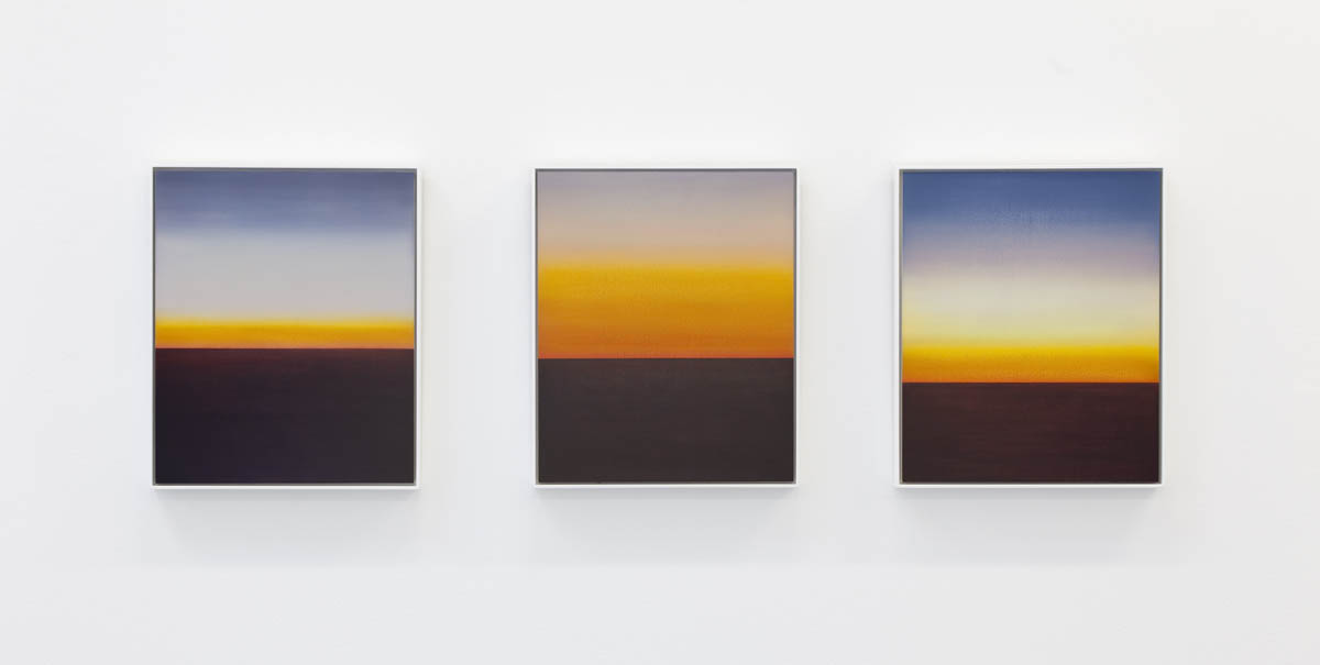 Stratosphere, Oil on wood, 3 panels, 47 x 39cm each