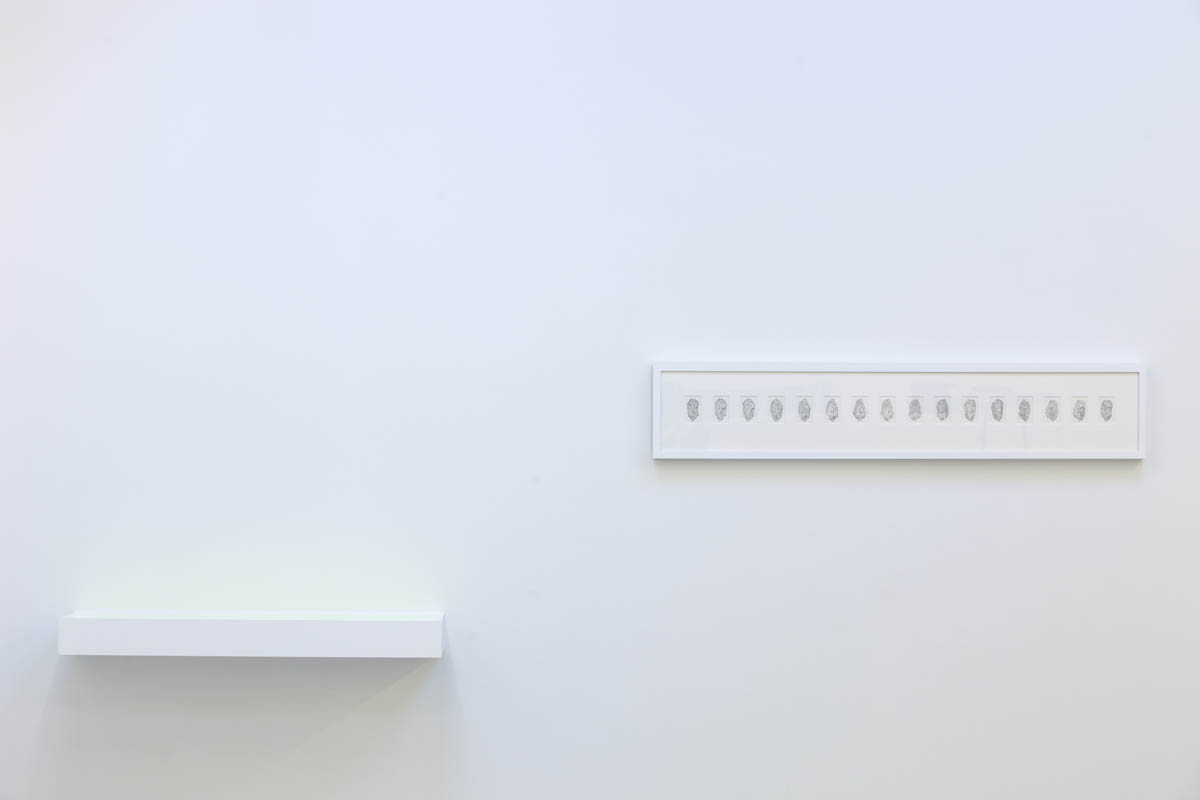 Turning Sky into Stone, Surface of the Earth#3 (16 Stills), Installation view