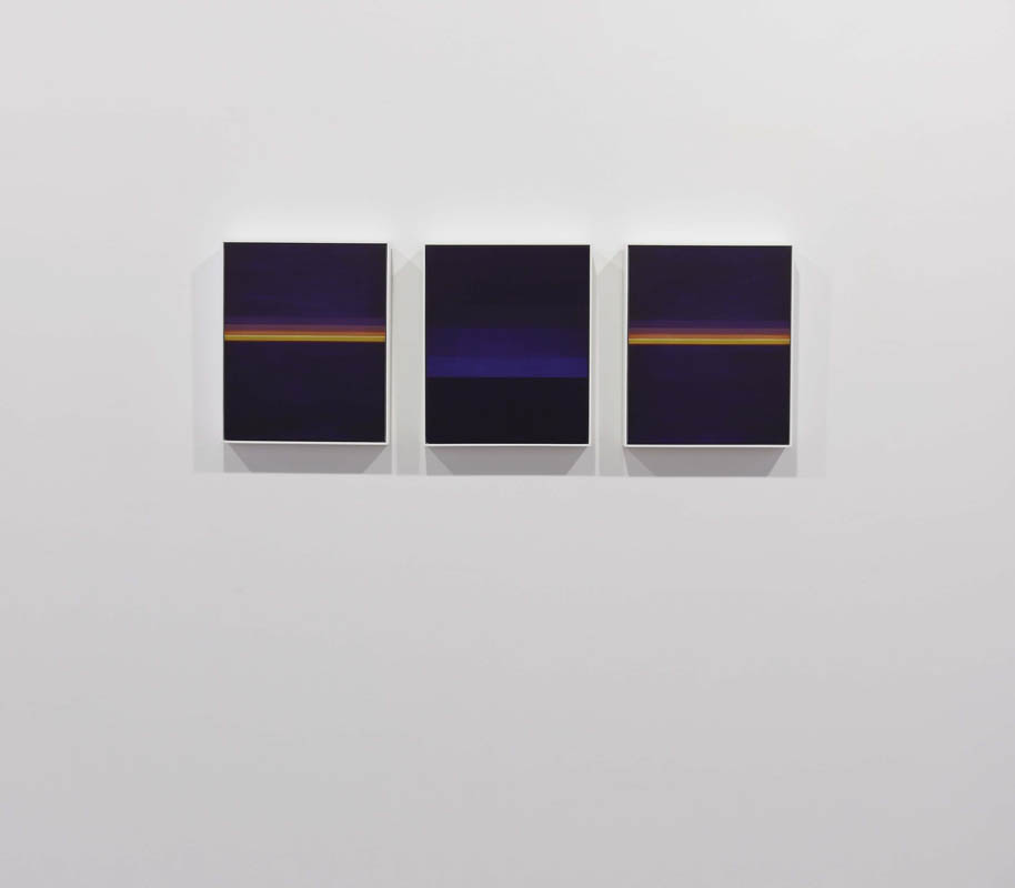 Stratosphere  (St Petersburg-Helsinki) #1, oil on wood, 3 parts,  45 x 37cm each