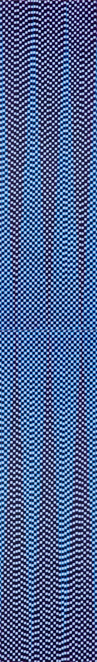 Water Column#1, oil paint, pigment, medium on linen,  200 x 30 cm, 2 panels