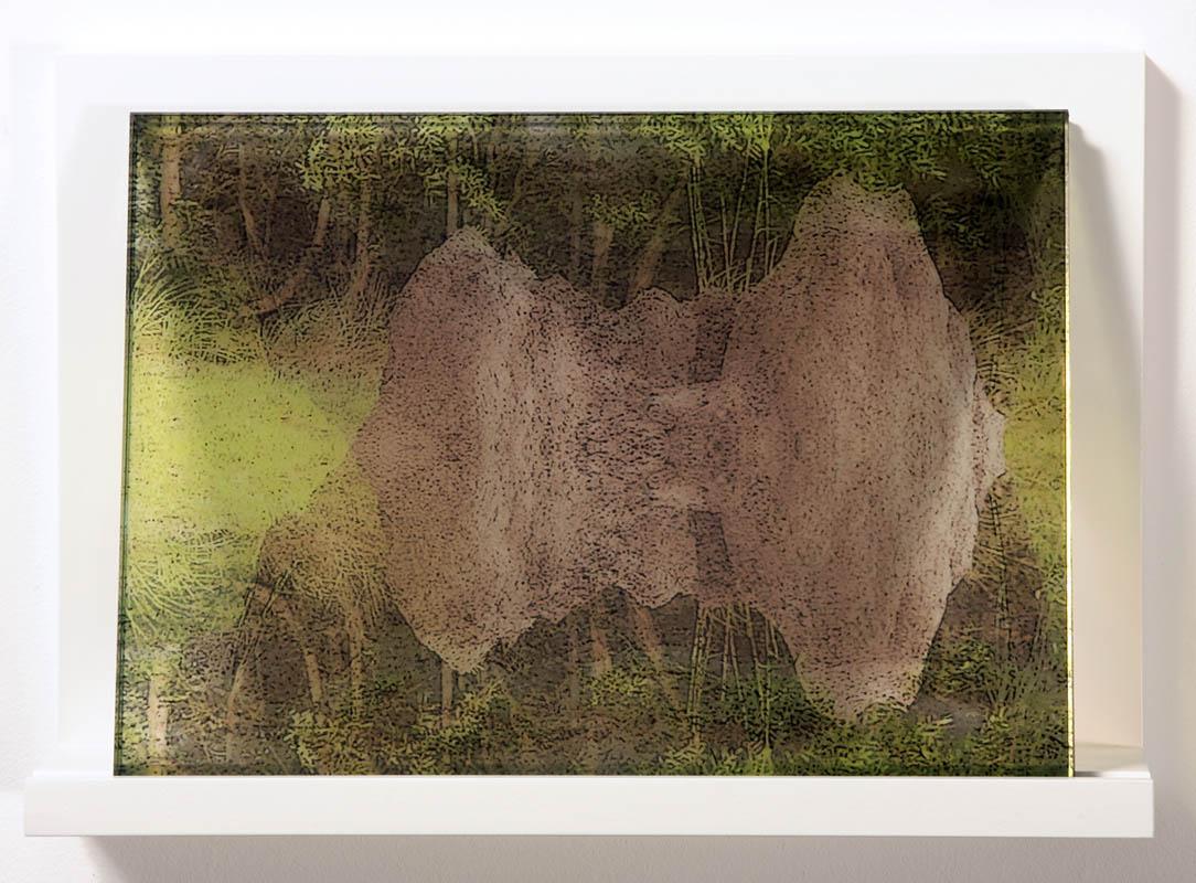 Anthills- Cooktown #1, digital print, in glass, 22.5 x 30 cm